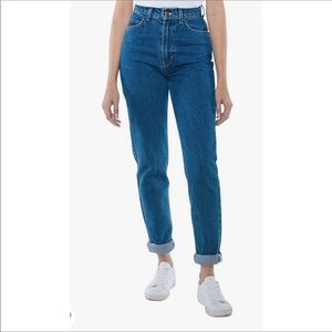 American Apparel The High Waisted Jean Size 29